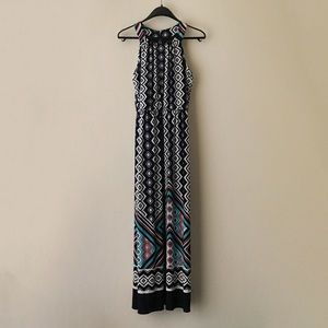 NWOT Enfocus Studio Maxi Geometric Halter Dress
